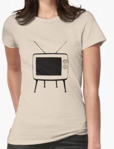 Old TV. Womens Fitted T-Shirt