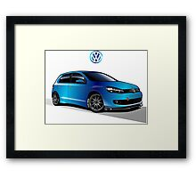 VW Golf 01 Framed Print