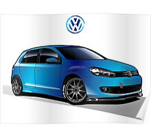 VW Golf 01 Poster