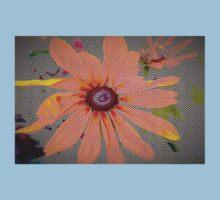 Light orange flower design Kids Tee