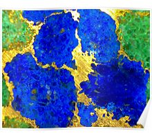Terrazzo Pansy Poster