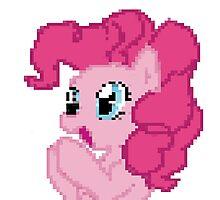 Pinkie Pie Pixel My Little Pony Brony Pegasister Photographic Print