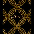Abstract Metal Chain iPhone Case by Moonlake