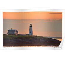 Wood Island Light Sunrise Poster
