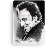 Bruce Springsteen, the Boss in Paris Canvas Print