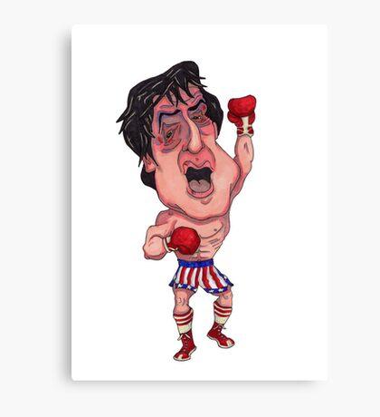 Rocky Illustration Canvas Print