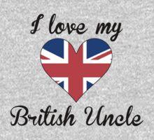 I Love My British Uncle Kids Tee