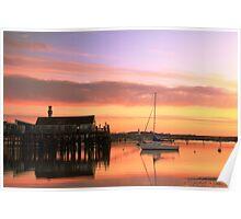 Provincetown Harbor before Sunrise Poster