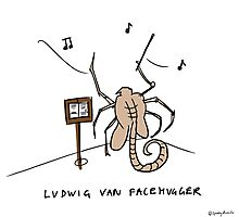 LUDWIG VAN FACEHUGGER Photographic Print