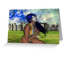 Pagan Meditation Greeting Card