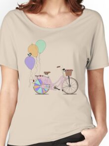 Love to Cycle on my Pink Bike Women's Relaxed Fit T-Shirt