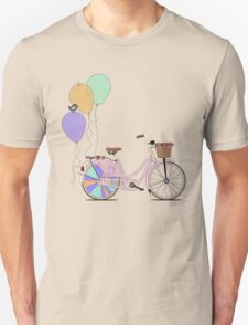 Love to Cycle on my Pink Bike Unisex T-Shirt