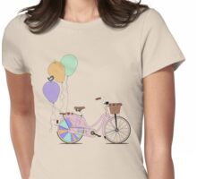 Love to Cycle on my Pink Bike Womens Fitted T-Shirt