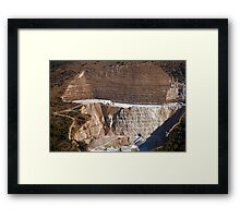 Marble Quarry Framed Print