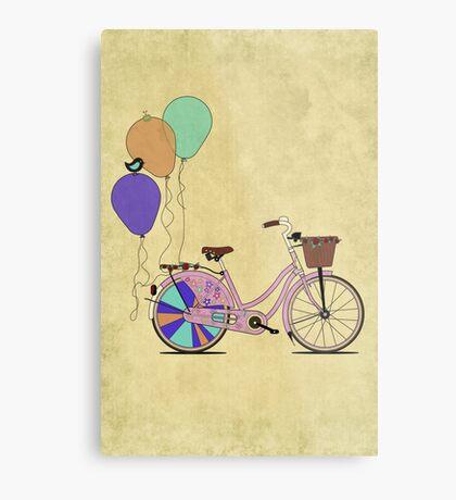 Love to Cycle on my Pink Bike Metal Print