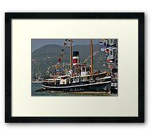 Steam Powered Tugboat Framed Print