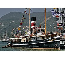 Steam Powered Tugboat Photographic Print