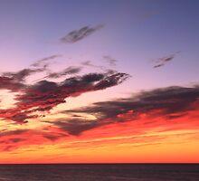 Sunset Sky over Cape Cod Bay by Roupen  Baker