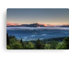 Sunset up above Canvas Print