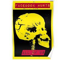 Facebook Skull Poster