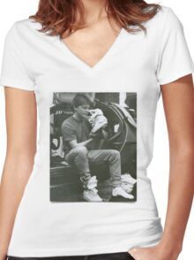 Marty Mcfly Back to the future Women's Fitted V-Neck T-Shirt