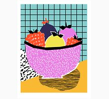 Crucial - modern pop art throwback neon miami memphis design geometric grid fruit food art print Classic T-Shirt