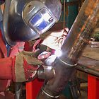 "Me Tig welding 3"" pipe. by Kit347"