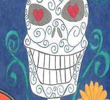 Sugar Skull Blue Phone Case by scifigoofy