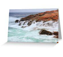 Atlantic Seas on Schoodic Point Greeting Card