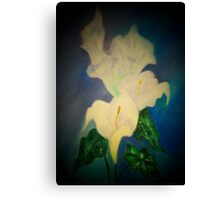 Beauty Simplified in a Lily's Life Canvas Print