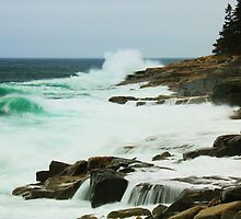 Storm Seas at Acadia National Park by Roupen  Baker