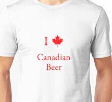 I Love Canadian Beer Unisex T-Shirt