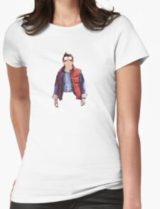 Morty McFly Womens Fitted T-Shirt