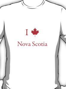 I Love Nova Scotia T-Shirt