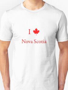 I Love Nova Scotia Unisex T-Shirt