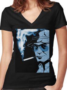Hunter S Thompson Gonzo Women's Fitted V-Neck T-Shirt