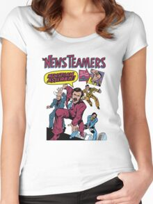 News Team Assemble! Women's Fitted Scoop T-Shirt