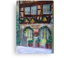 Restaurant Noel et Joie Canvas Print