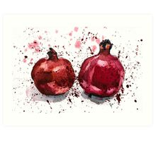 Pomegranate Evening Art Print
