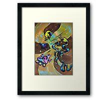 Space Cat: Voyage! Framed Print