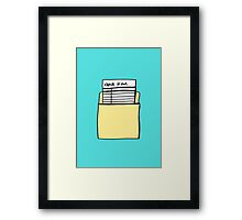 Check it Out Framed Print