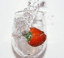 strawberry splash by Tina Boissy-Parker