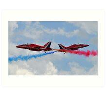RAF Red Arrows Cross Art Print