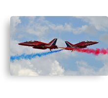RAF Red Arrows Cross Canvas Print