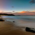 Pebbly Beach Sunset. by Warren  Patten