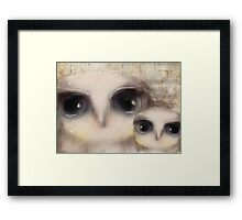 little owls Framed Print