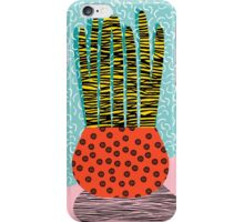 Amped - throwback vintage retro art print memphis style period hipster colorful bright pop art funny iPhone Case/Skin