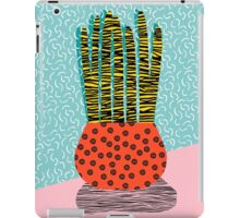 Amped - throwback vintage retro art print memphis style period hipster colorful bright pop art funny iPad Case/Skin