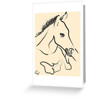 Horse-foal-pure Greeting Card