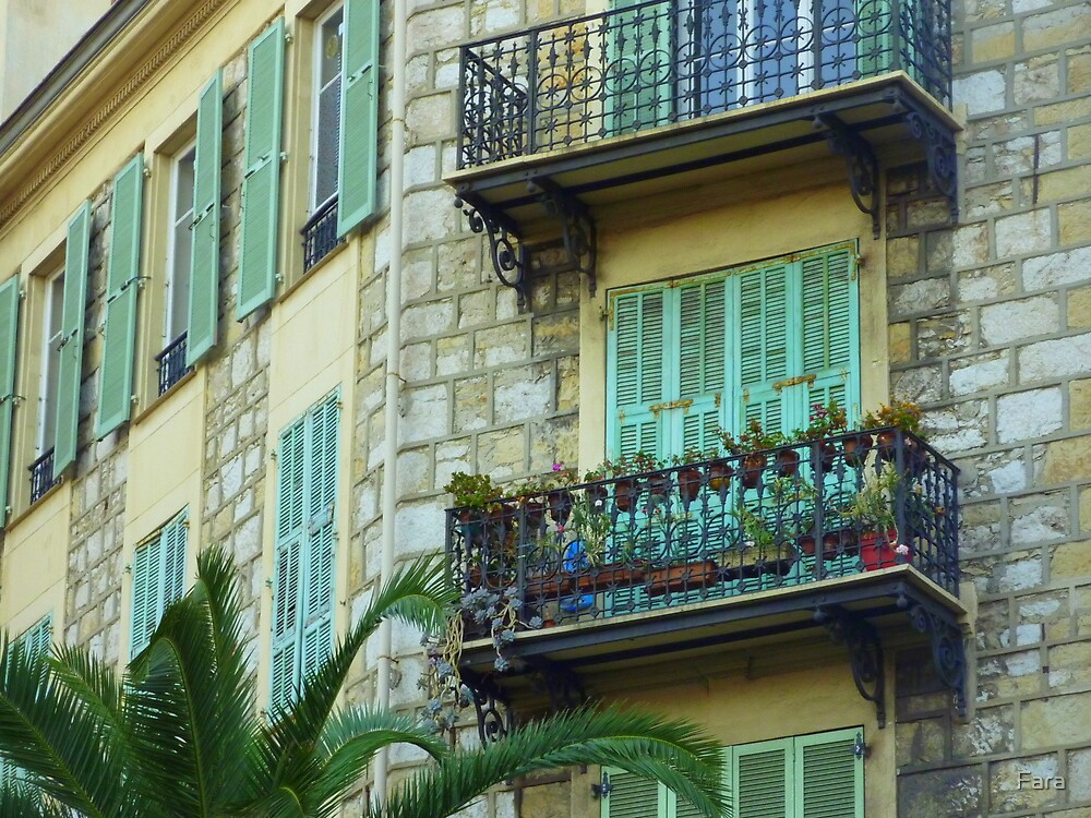Shutters And Balconies by Fara